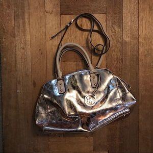Rose Gold Michael Kors Satchel Handbag